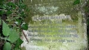 Gravestone of Carl Jay at St Mary's Church, Bexley