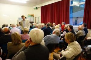 Roger Mayo talking to the Bexley Historical Society
