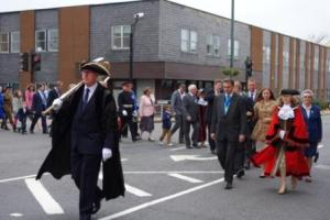 The Mayor of Bexley leading special guests from the Civic Offices