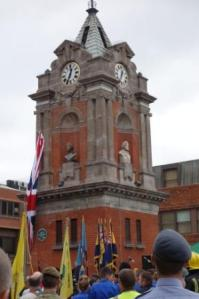 The sculpture of the Queen at the Clock Tower is unveiled