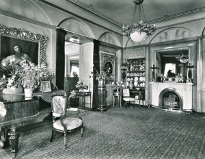 The Music Room at Blendon Hall in 1925