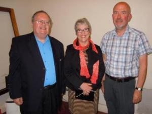 Jim Packer, Margi Carlson and Geoff Holland