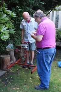 Geophysical survey by Geoff and Jim